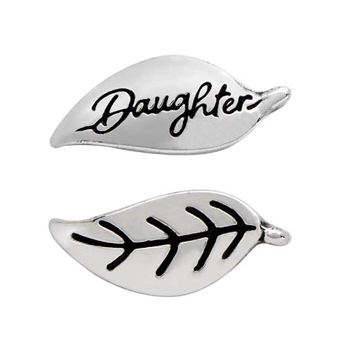 CH6060 Silver Daughter Leaf Charm copy